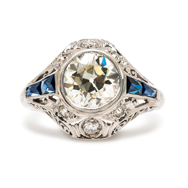 Art Deco Sapphire Diamond Engagement Ring | Potomac from Trumpet & Horn