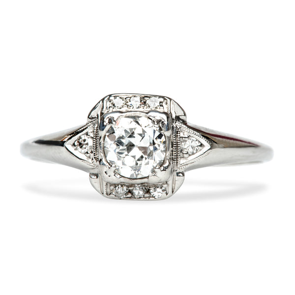 Elegant Vintage Art Deco Engagement Ring | Island Falls from Trumpet & Horn