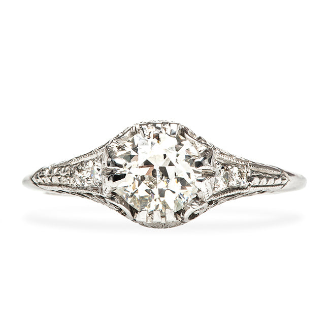 Calistoga Vintage Simple Diamond Engagement Ring from Trumpet & Horn