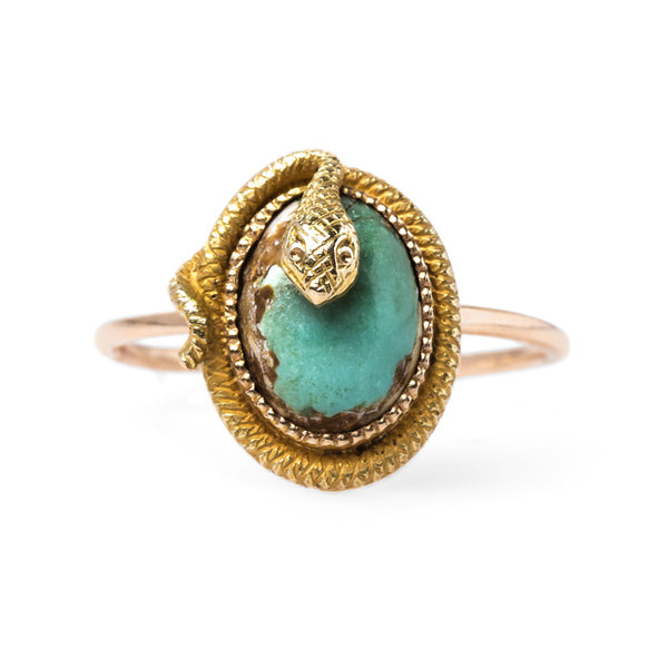 Victorian Turquoise Snake Ring | Langston from Trumpet & Horn