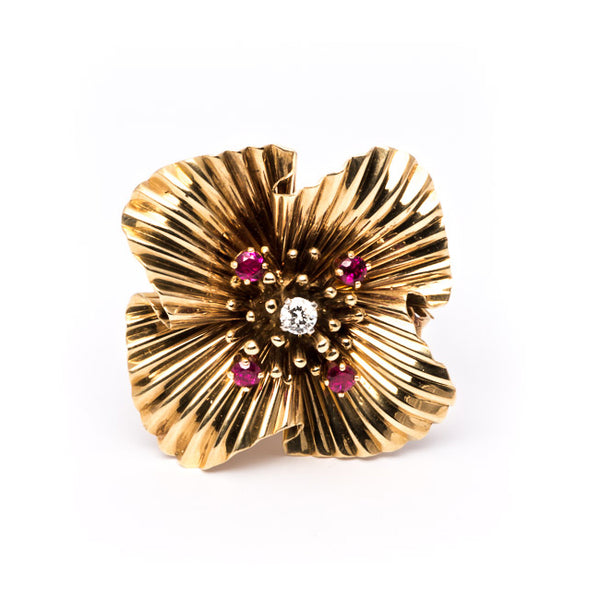 Tiffany & Co. Retro Flower Pin