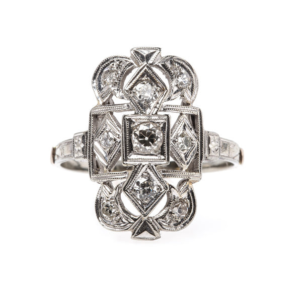 Timeless Navette Style Engagement Ring with Old European Cut Diamonds | Pembrook from Trumpet & Horn