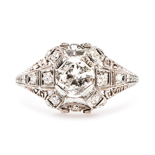 Vintage Unique Engagement Ring | Edwardian Antique Diamond Ring
