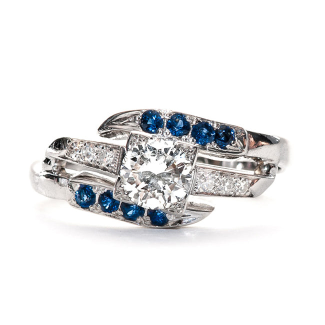 Vintage Diamond and Sapphire Ring | Vintage Engagement Ring