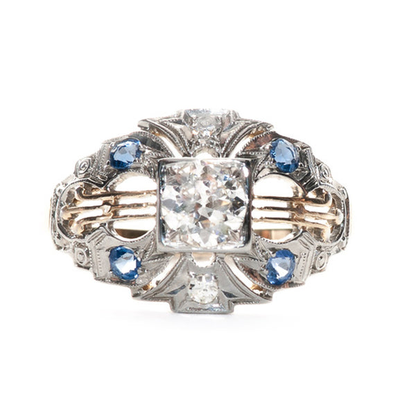georgetown sapphire engagement ring