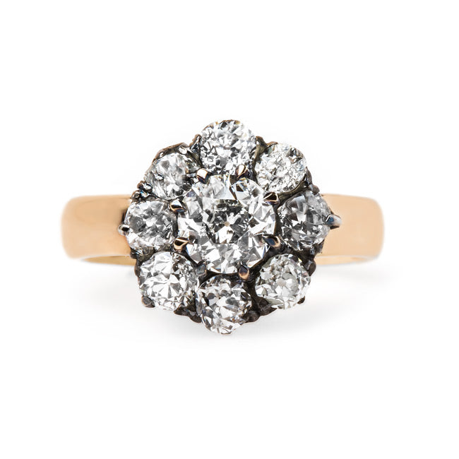 Fabulous Victorian Cluster Ring | Westholme from Trumpet & Horn