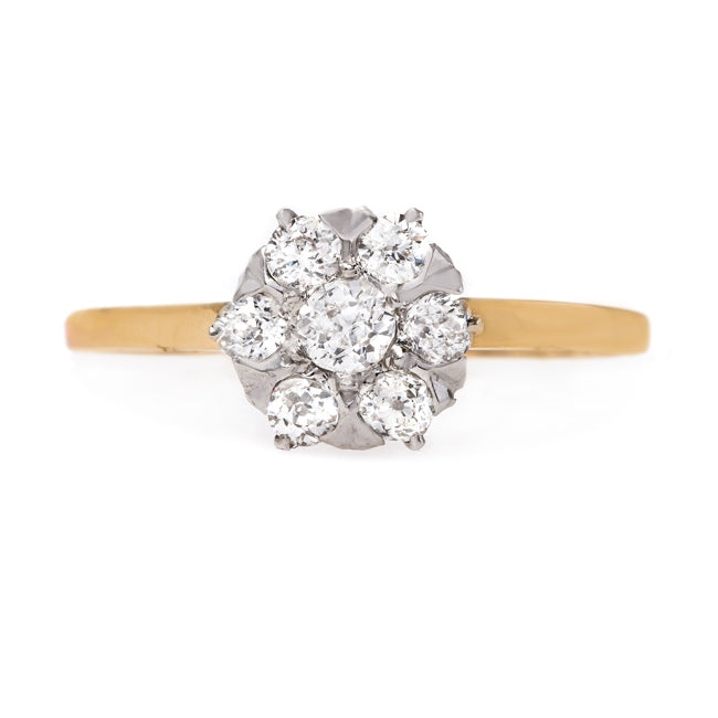 Feminine Star Shaped Diamond Cluster Ring | Star Point from Trumpet & Horn