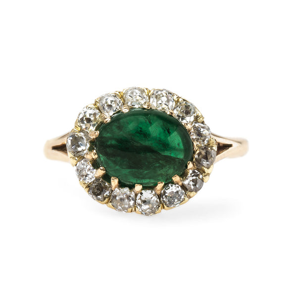 Charming Victorian Era Engagement Ring with Natural Emerald Center | Robinson from Trumpet & Horn