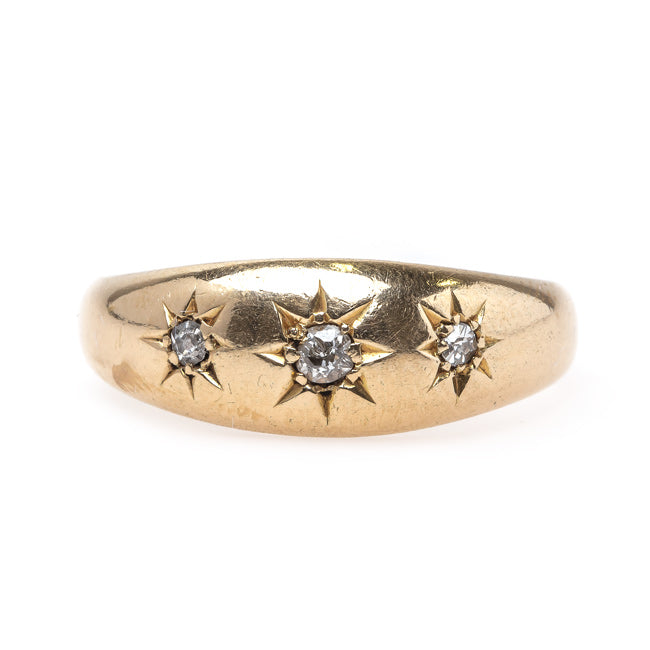 Classic Victorian Era Diamond Ring with Starburst Design | Bedfordshire from Trumpet & Horn