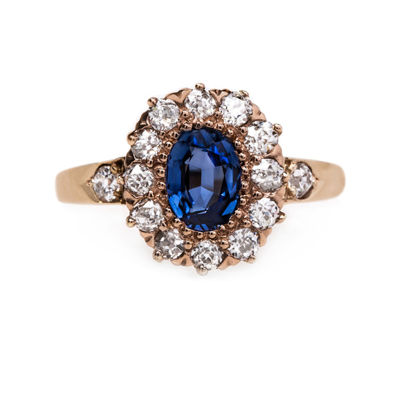 Dreamy Rose Gold and Sapphire Engagement Ring | Hartland from Trumpet & Horn
