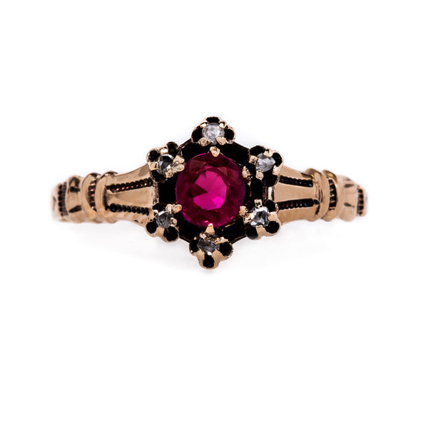 Antique Victorian Era Ruby and Diamond Ring | Leighton from Trumpet & Horn