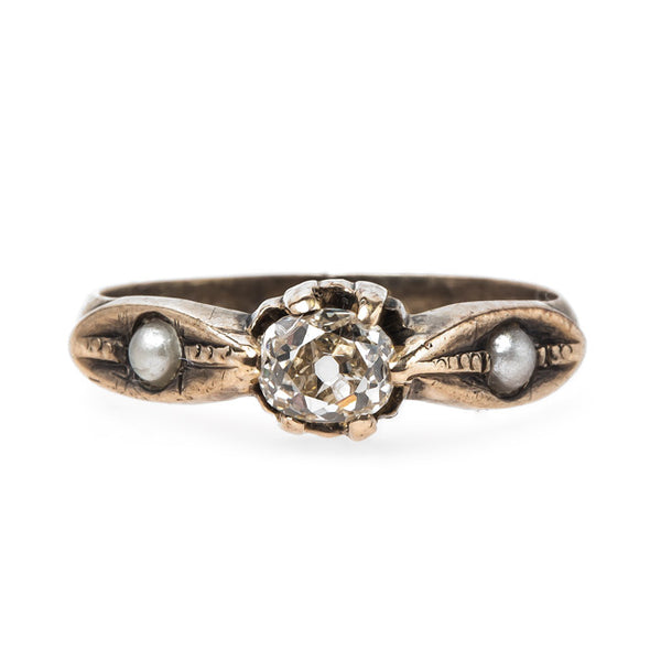 Sweet Victorian Pearl and Diamond Ring | Athens from Trumpet & Horn
