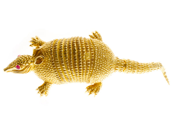 Vintage David Webb Gold Armadillo Brooch