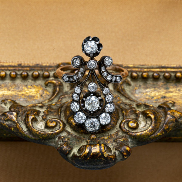Romantic & Whimsical Victorian Diamond-Encrusted Ring | Walsing