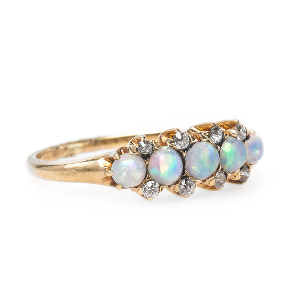 Delicate Yet Fabulous Victorian Era Opal Engagement Ring | Wayland from Trumpet & Horn