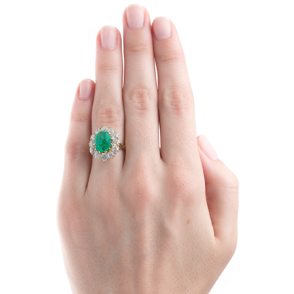 Lively Green Emerald Ring | Wellesley – Trumpet & Horn