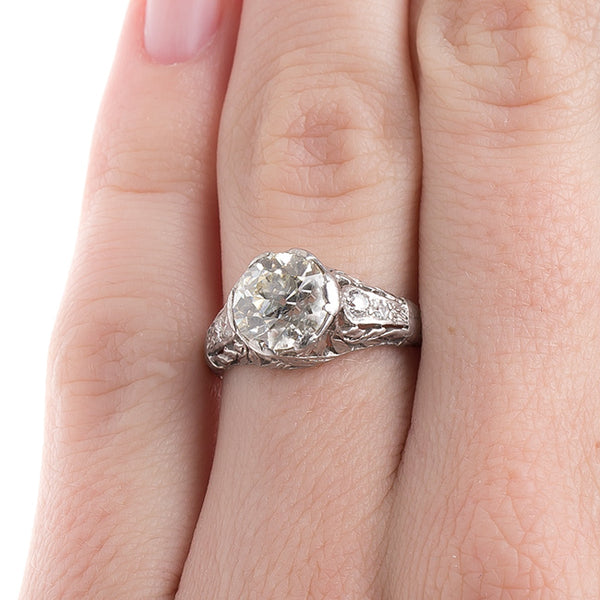 Stunning Edwardian Era Engagement Ring | Wellington from Trumpet & Horn