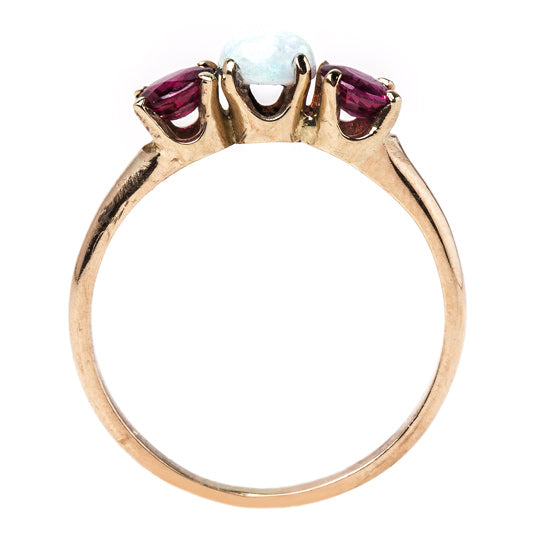 Victorian Opal and Ruby Ring | Wentworth from Trumpet & Horn