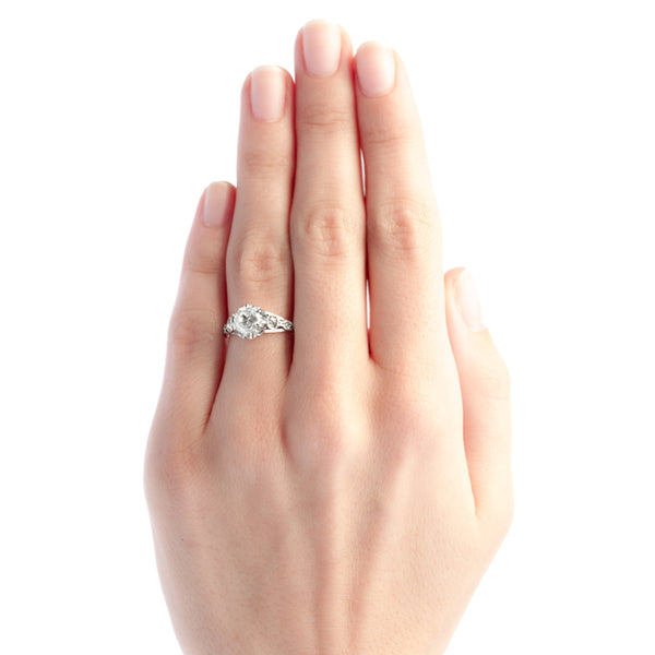 Westbrook vintage diamond engagement ring from Trumpet & Horn