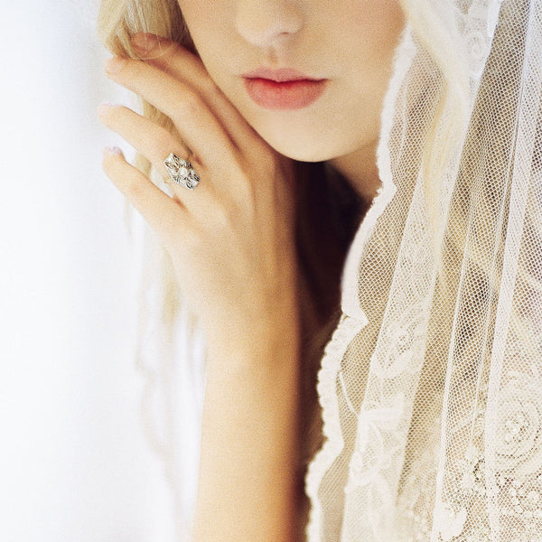 Edwardian era navette diamond ring | Photo by Leighanne Herr