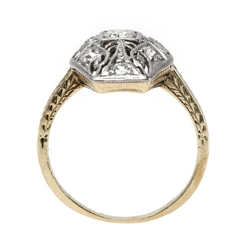 Edwardian era navette diamond ring | Westland from Trumpet & Horn