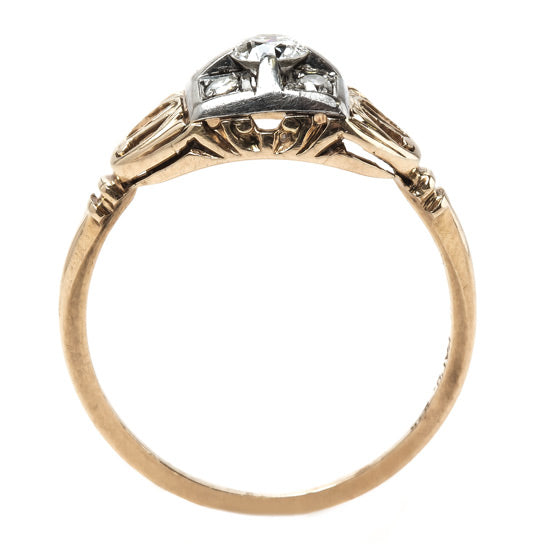 Two-Tone Retro Era Engagement Ring | Wheat Ridge from Trumpet & Horn