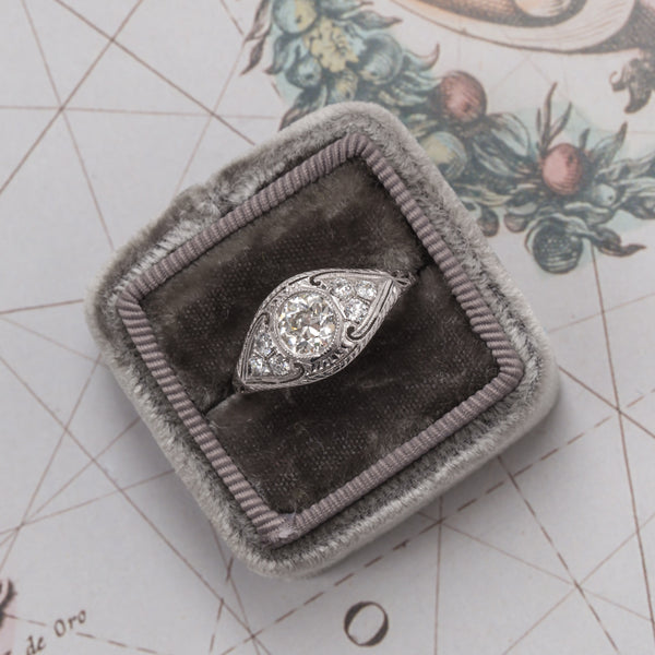 Whistler vintage Edwardian diamond engagement ring from Trumpet & Horn