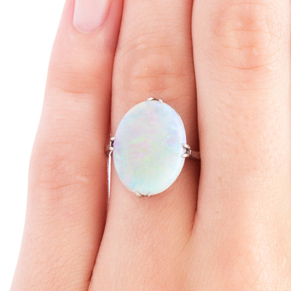 Stunning Edwardian Era Oval Opal Engagement Ring | Whitechapel from Trumpet & Horn