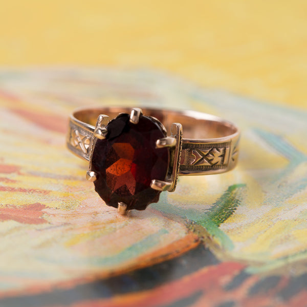 Antique Garnet Solitaire Ring | Whitmore from Trumpet & Horn