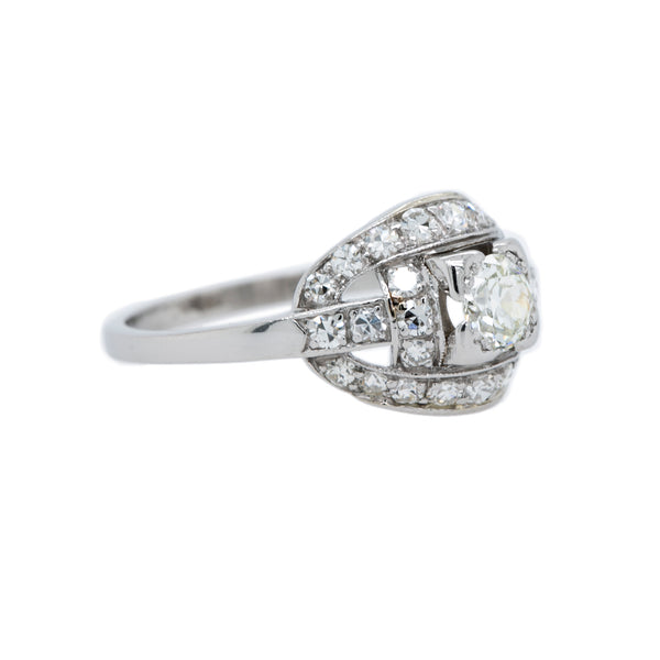 Fabulous and Authentic Art Deco Platinum and Diamond Engagement Ring | Whitworth