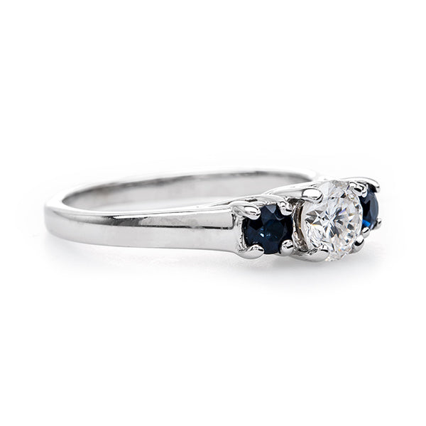 Classic Three Stone Sapphire and Diamond Ring | Willby from Trumpet & Horn