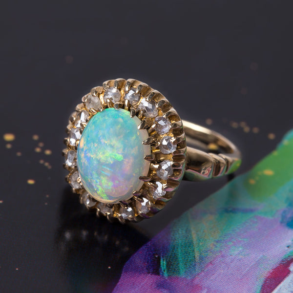 Bold Victorian Era Opal Ring | Willow Tree from Trumpet & Horn