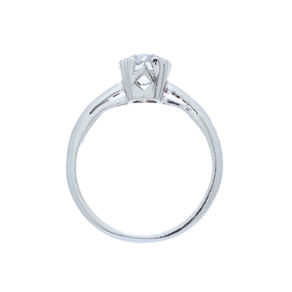 A Timeless Art Deco Platinum and GIA Certified Diamond Engagement Ring