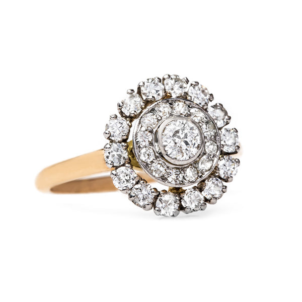 Whimsical Diamond Halo Ring | Windmill Way from Trumpet & Horn