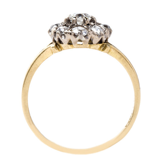 Antique Cluster Ring with Coveted English Hallmarks | Woodway from Trumpet & Horn
