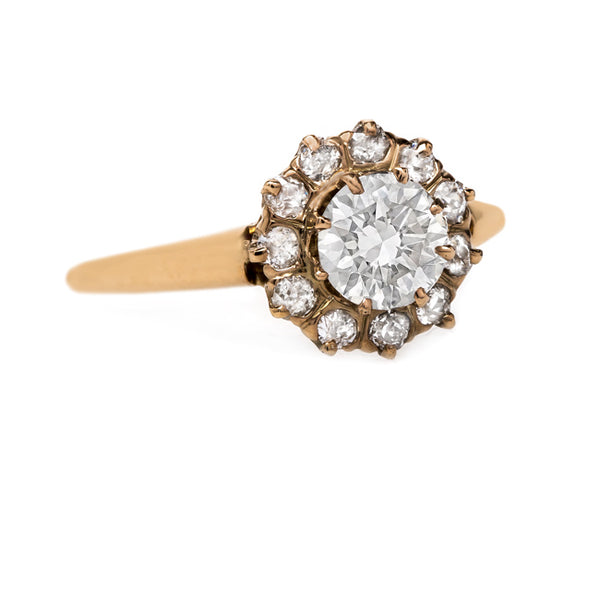 Classic Yellow Gold Halo Style Engagement Ring | Yardley from Trumpet & Horn