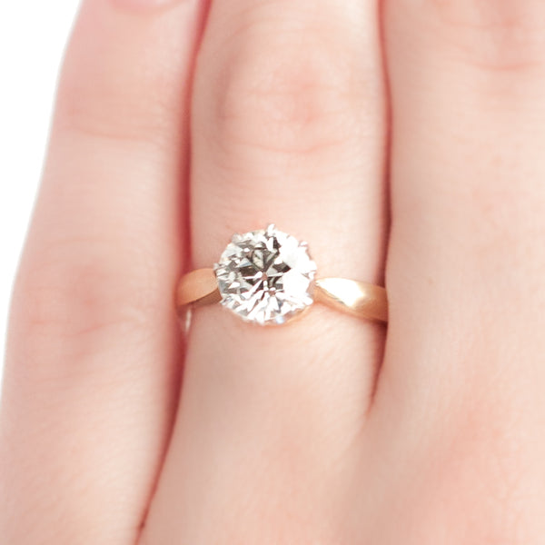 vintage inspired diamond solitaire engagement ringVintage Inspired Diamond Engagement Ring | Vintage Diamond Ring | Yatesville from Trumpet & Horn