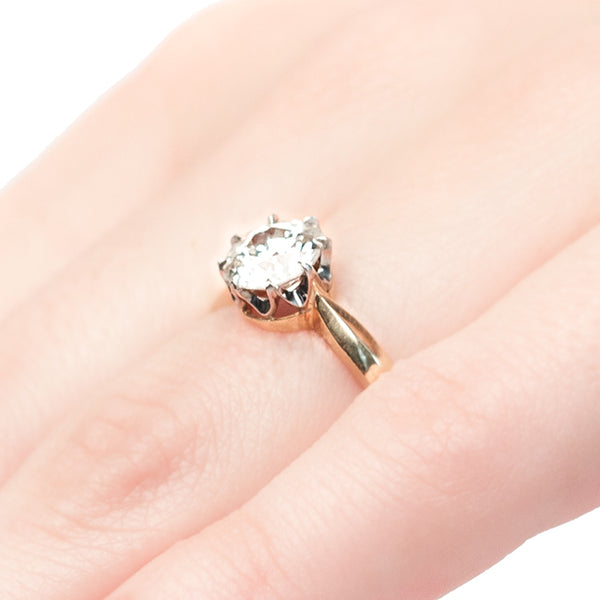 Vintage Inspired Diamond Engagement Ring | Vintage Diamond Ring | Yatesville from Trumpet & Horn