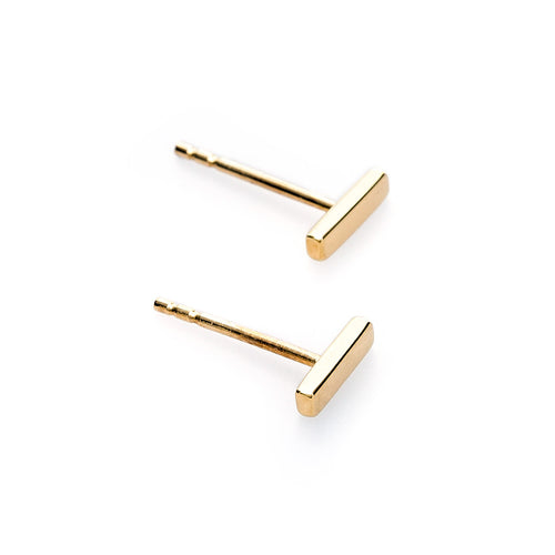 Minimalist Gold Bar Earrings from Trumpet & Horn