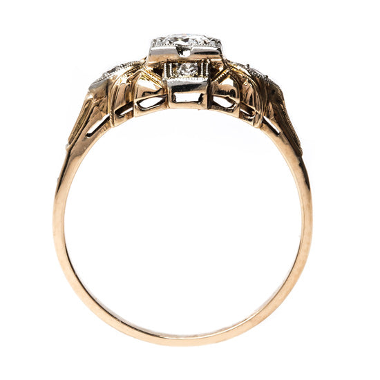 Amazing Mixed Metal Retro Ring | Zenia from Trumpet & Horn