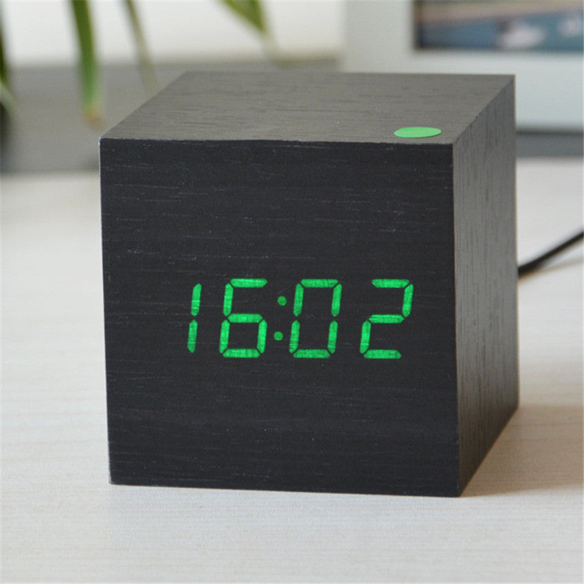 Digital LED Bamboo&Wooden Control Alarm Clock - 4u2by.com