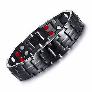 Punk bio-energy magnetic therapy bracelet
