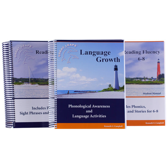 READING FLUENCY 6-8 PACKAGE WITH LANGUAGE GROWTH FOR GRADES 3-8
