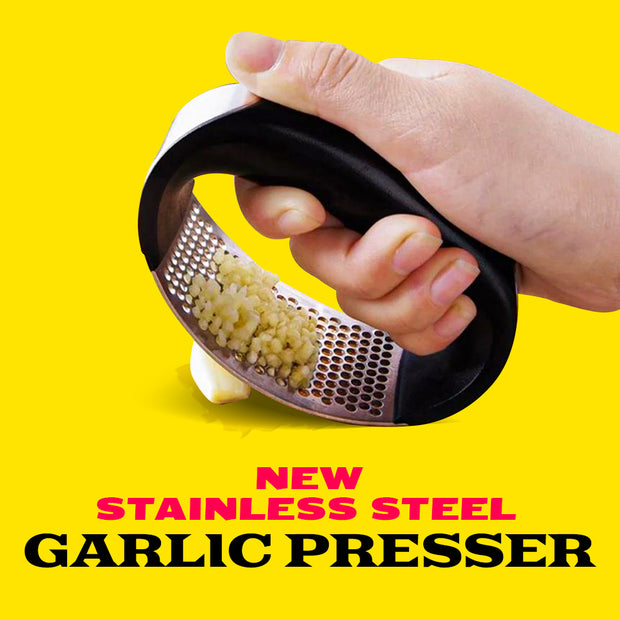 New Stainless Steel Garlic Presser