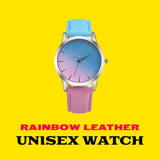 Rainbow Leather Gradient Watch