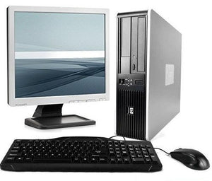"HP Desktop Computer AMD Dual Core 2.3GHZ Athlon X2 PC Windows 10 17"" LCD Monitor Keyboard Mouse"