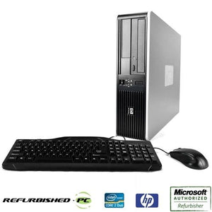 HP Desktop Computer PC Intel Core 2 Duo 2.0-3.2GHz Windows 10 Bundled with USB Keyboard Mouse