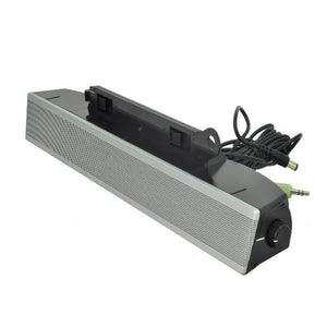 Dell AS501 Silver Stereo Soundbar Speaker (powered from Dell Monitors)