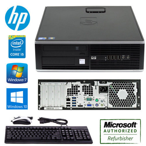 HP Compaq 8000 Elite Pro SFF Desktop Computer  Core 2 Duo 3.0 GHz 4 GB DDR3 160 GB HDD Windows 10 Pro 64-bit