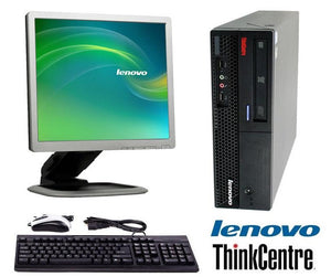 "Lenovo ThinkCentre M57 Computer 17"" LCD Monitor Bundle Desktop PC with Windows 10 or XP"